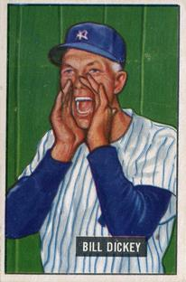 1951 Bowman #290 Bill Dickey CO front image