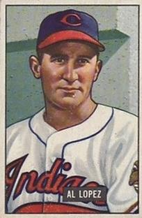 1951 Bowman #295 Al Lopez MG RC