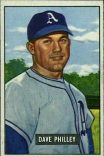 1951 Bowman #297 Dave Philley