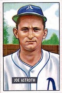1951 Bowman #298 Joe Astroth RC