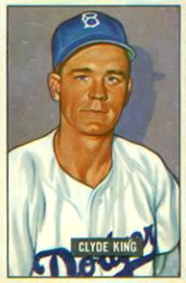 1951 Bowman #299 Clyde King RC