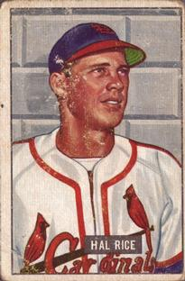 1951 Bowman #300 Hal Rice RC