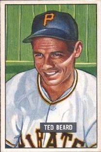 1951 Bowman #308 Ted Beard RC