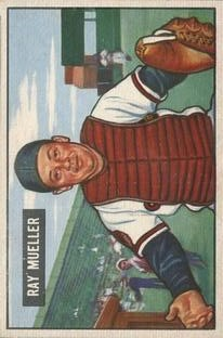 1951 Bowman #313 Ray Mueller RC