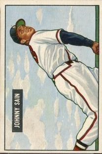1951 Bowman #314 Johnny Sain