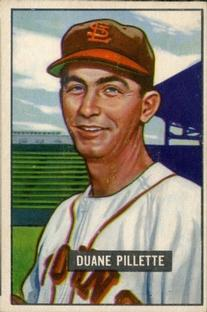 1951 Bowman #316 Duane Pillette RC