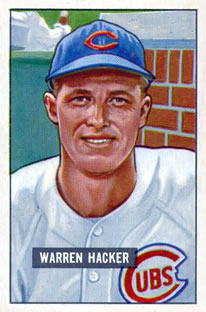 1951 Bowman #318 Warren Hacker RC