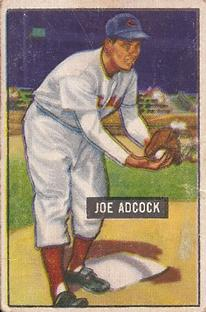 1951 Bowman #323 Joe Adcock RC