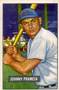 1951 Bowman #324 Johnny Pramesa RC front image