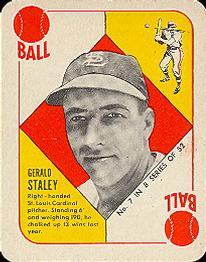 1951 Topps Blue Backs #7 Gerry Staley RC