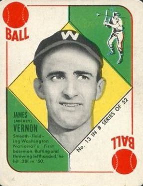 1951 Topps Blue Backs #13 Mickey Vernon