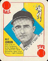 1951 Topps Blue Backs #21 Billy Johnson