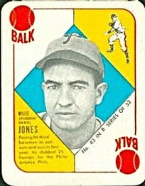1951 Topps Blue Backs #43 Willie Jones