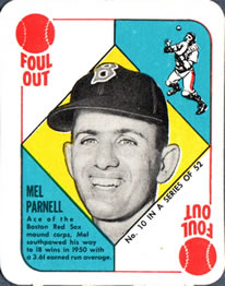 1951 Topps Red Backs #10 Mel Parnell