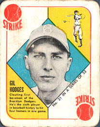 1951 Topps Red Backs #31 Gil Hodges