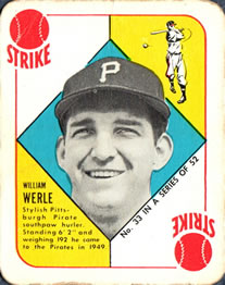 1951 Topps Red Backs #33 William Werle front image