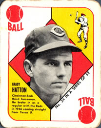 1951 Topps Red Backs #34 Grady Hatton