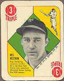 1951 Topps Red Backs #37 Wes Westrum RC front image