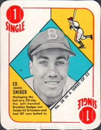 1951 Topps Red Backs #38 Duke Snider