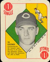 1951 Topps Red Backs #39 Ted Kluszewski