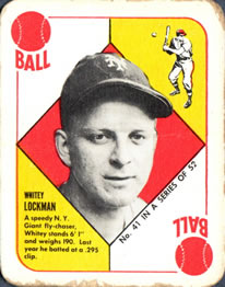 1951 Topps Red Backs #41 Whitey Lockman