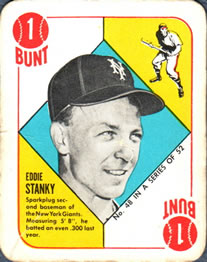 1951 Topps Red Backs #48 Eddie Stanky