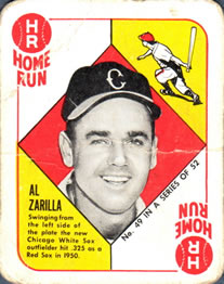 1951 Topps Red Backs #49 Al Zarilla