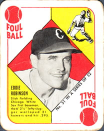 1951 Topps Red Backs #51 Eddie Robinson