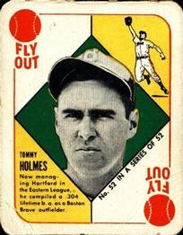 1951 Topps Red Backs #52B Tommy Holmes Hartford