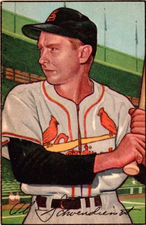 1952 Bowman #30 Red Schoendienst