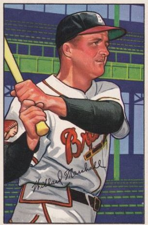 1952 Bowman #97 Willard Marshall front image