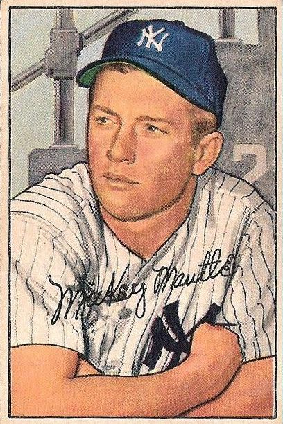 1952 Bowman #101 Mickey Mantle front image