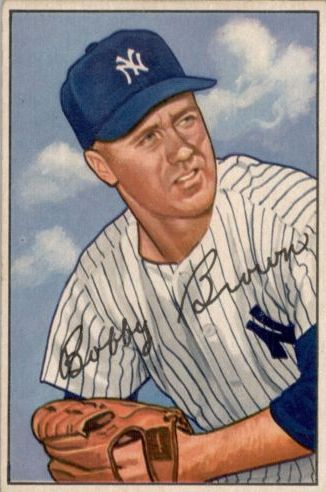 1952 Bowman #105 Bobby Brown