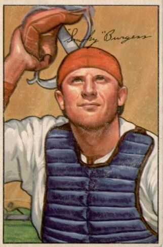 1952 Bowman #112 Smoky Burgess