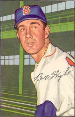 1952 Bowman #117 Bill Wight