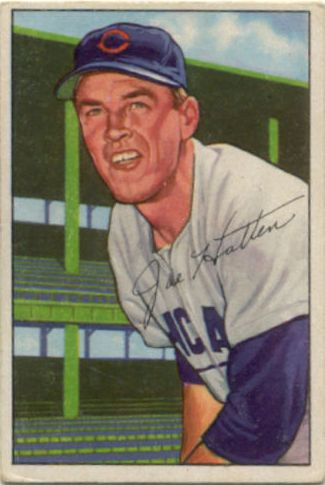 1952 Bowman #144 Joe Hatton