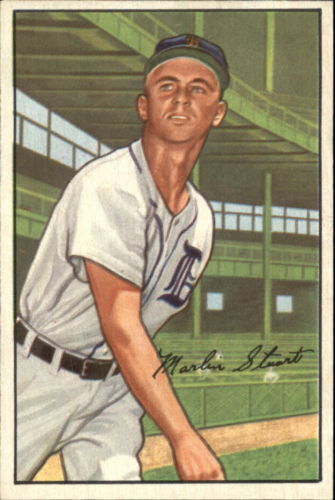 1952 Bowman #147 Marlin Stuart RC