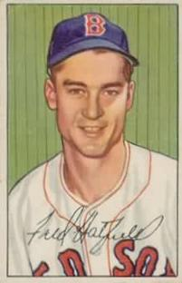 1952 Bowman #153 Fred Hatfield RC