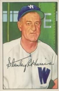 1952 Bowman #158 Bucky Harris MG