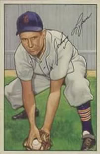 1952 Bowman #163 Johnny Lipon
