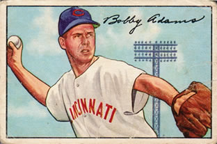 1952 Bowman #166 Bobby Adams