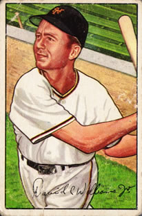 1952 Bowman #178 Dave Williams RC