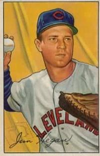1952 Bowman #187 Jim Hegan