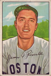 1952 Bowman #189 Jimmy Piersall