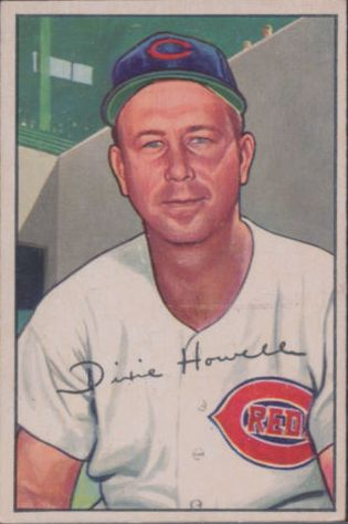 1952 Bowman #222 Dixie Howell