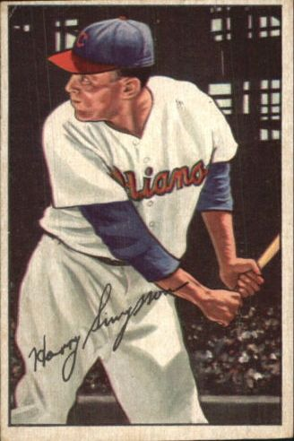 1952 Bowman #223 Harry Simpson RC