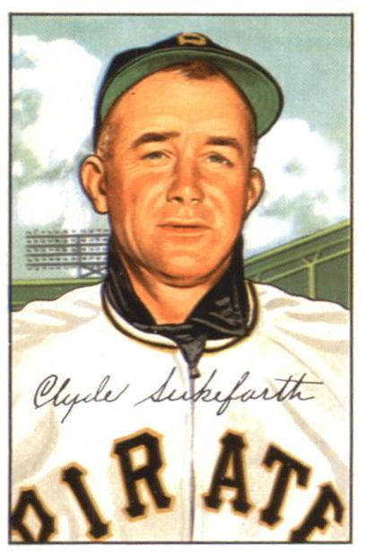 1952 Bowman #227 Clyde Sukeforth CO RC