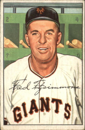 1952 Bowman #234 Fred Fitzsimmons CO