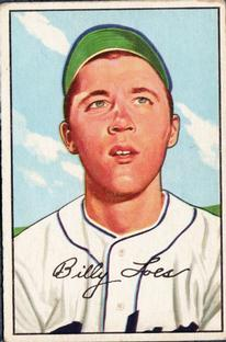 1952 Bowman #240 Billy Loes RC
