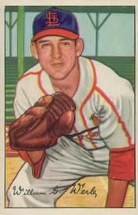 1952 Bowman #248 Bill Werle/Full name in signature